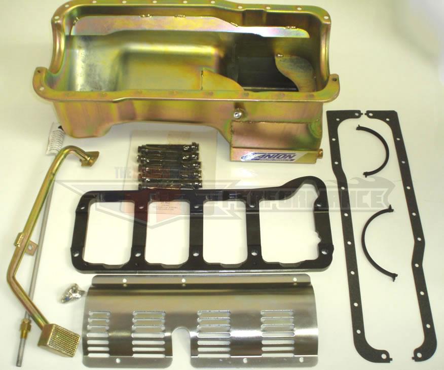 351 Windsor Supercharger Kit: Canton 351W Mustang 7 Quart Deep Wet Rear Sump Oil Pan 6