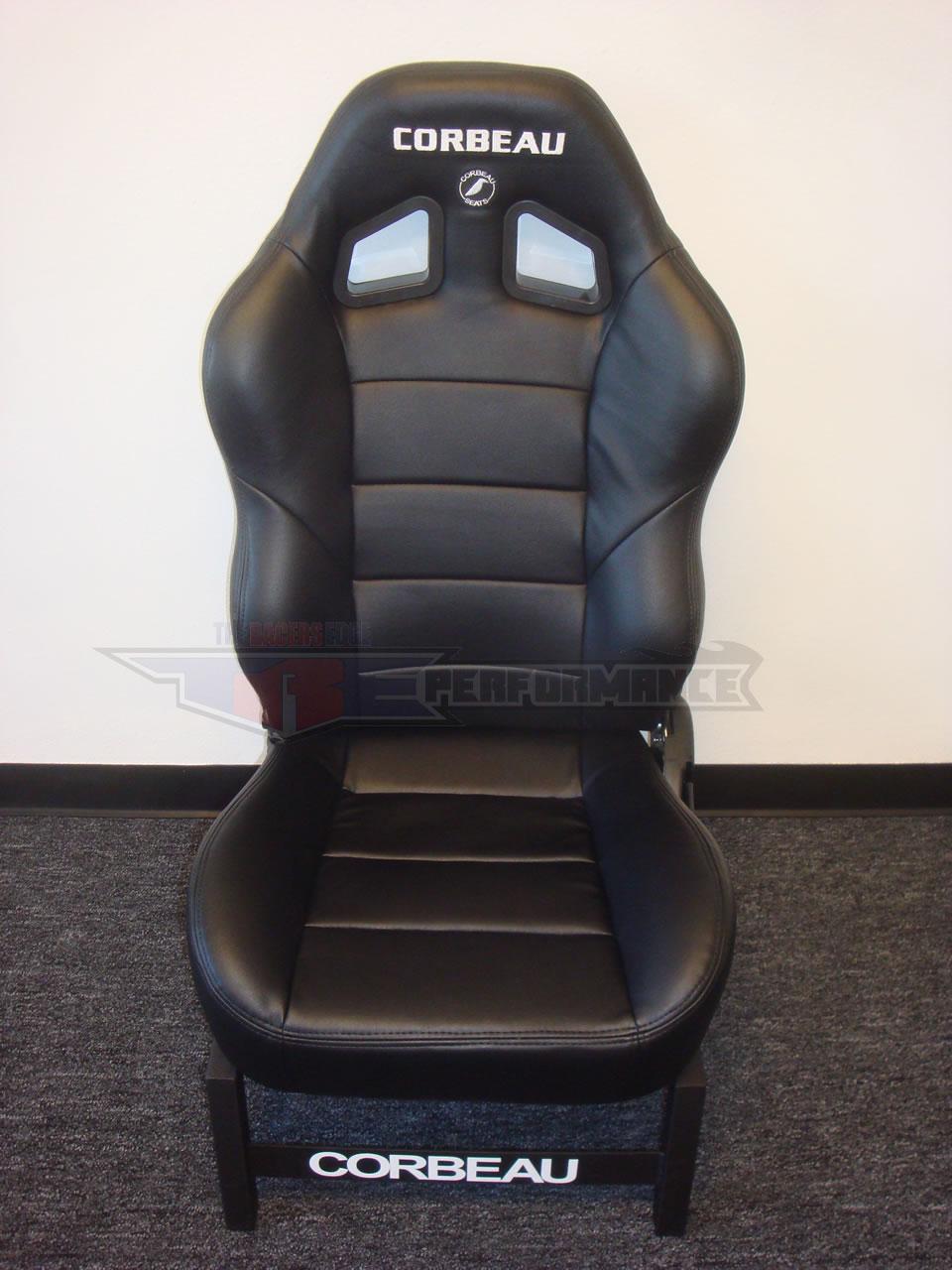 Corbeau Baja Xrs Black Vinyl New Reclining Racing Seat