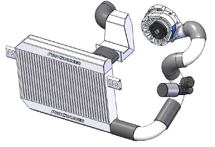 Dodge Challenger HEMI R/T 5.7L 2015-2017 Procharger Supercharger HO Intercooled P1SC1 P-1SC-1