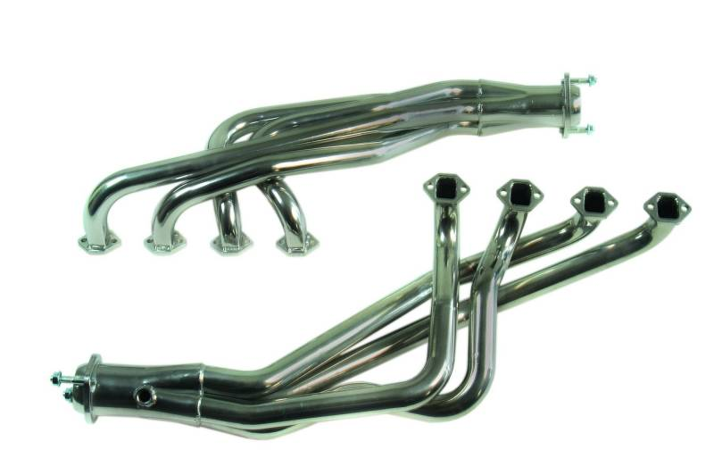 mac ford mustang 1979 1993 1 3 4 chrome long tube headers 3 collector automatic trans 5 0l. Black Bedroom Furniture Sets. Home Design Ideas