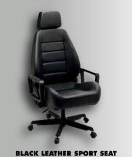 ... Black Leather Sport Seat Office Chair ... & Corbeau Office Chair Base - TREperformance.com
