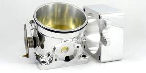 Accufab Racing - Accufab 90mm 86-93 Mustang 5.0L Clamshell Clamp Throttle Body w/ Blank Spacer