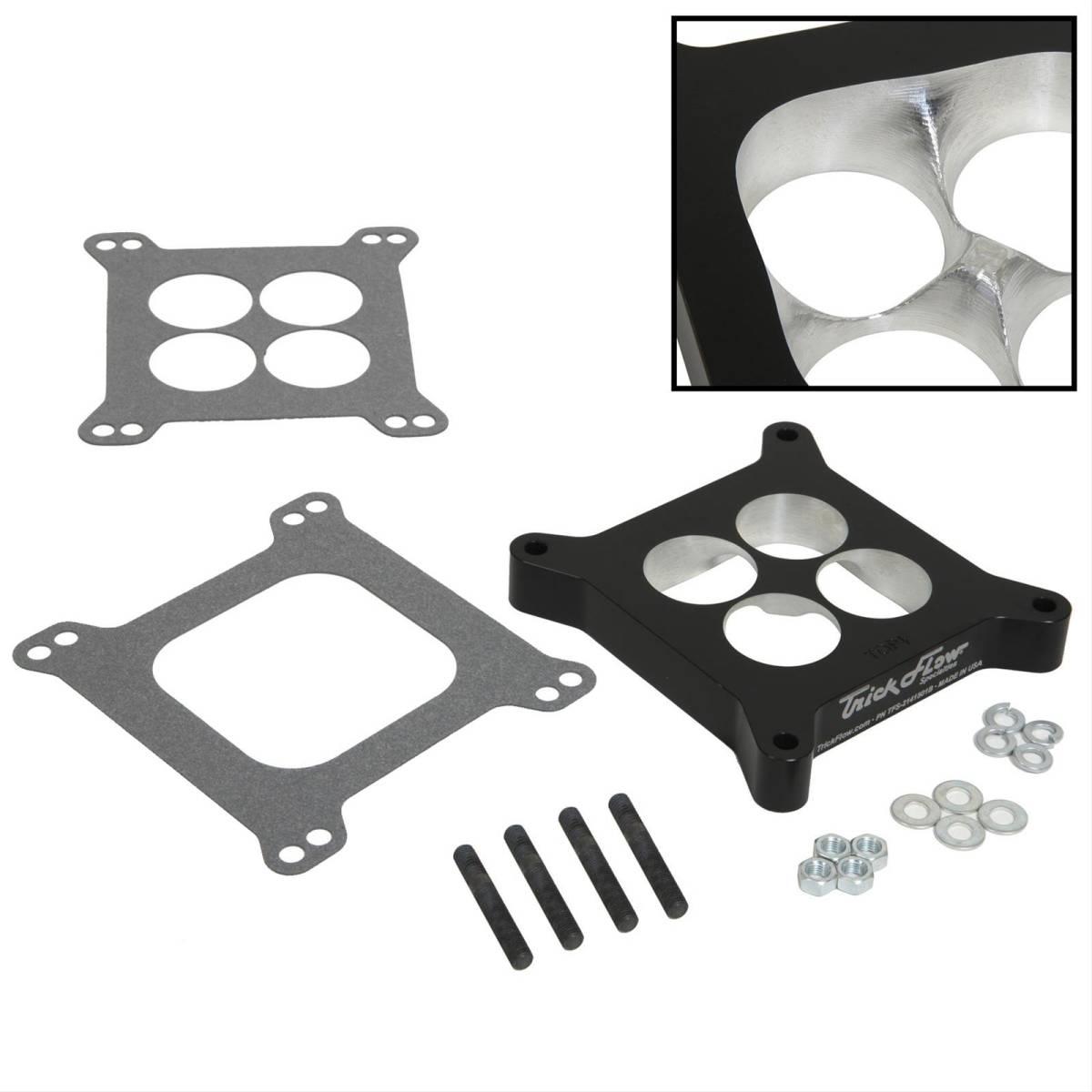 Trick Flow CNC Billet Aluminum Carburetor Spacers Kit 4150 4-Hole