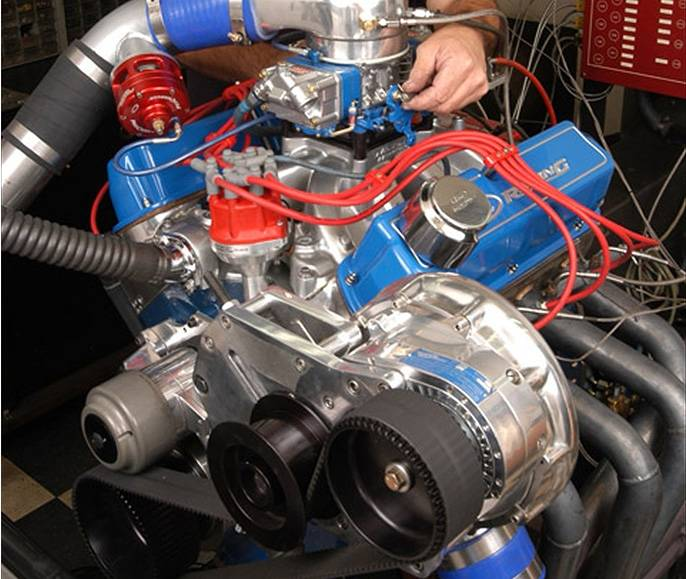 Ford EFI SB SBF Reverse Drive Race Carbureted Aftermarket EFI F-1R