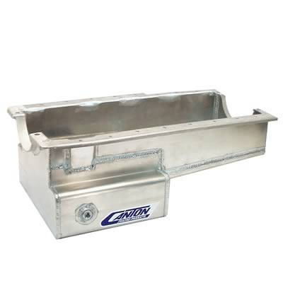 Canton Racing Products - Ford Aluminum 289-302 Block Front Sump Drag Race Oil Pan - Image 1