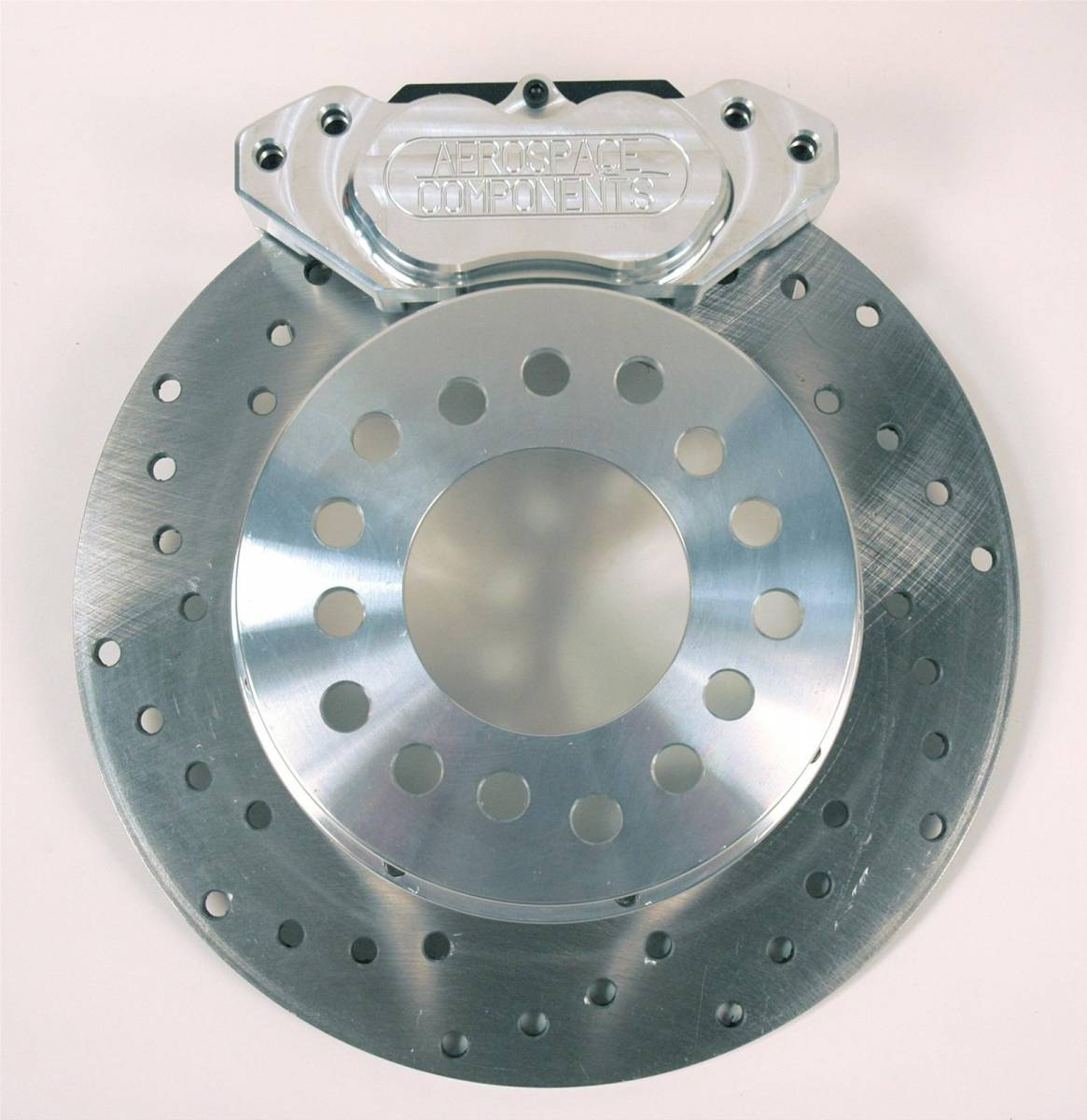 Aerospace Components - Aerospace Ford 8.8 Rear Drag Disc Brakes 4 Lug w/ Stock Axle Dual Caliper - Image 1