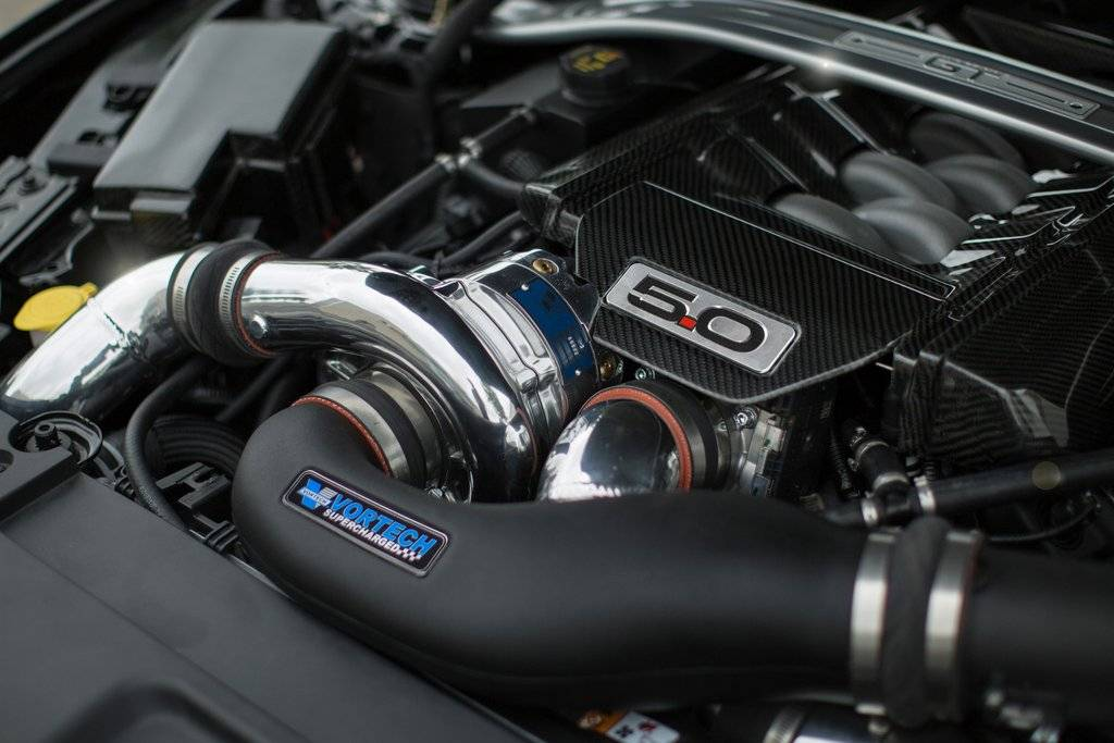 Vortech Superchargers - Ford Mustang GT 5.0L 2015-2017 Vortech Supercharger - Polished V-3 Si Tuner Kit