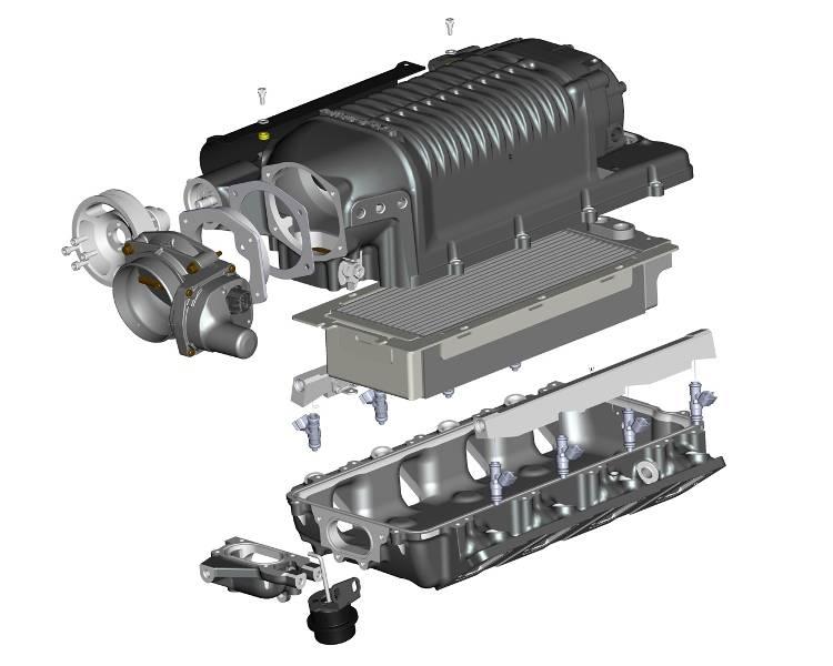 Whipple GM LSX Hot Rod Sandcar Rear Feed 4 5L Supercharger