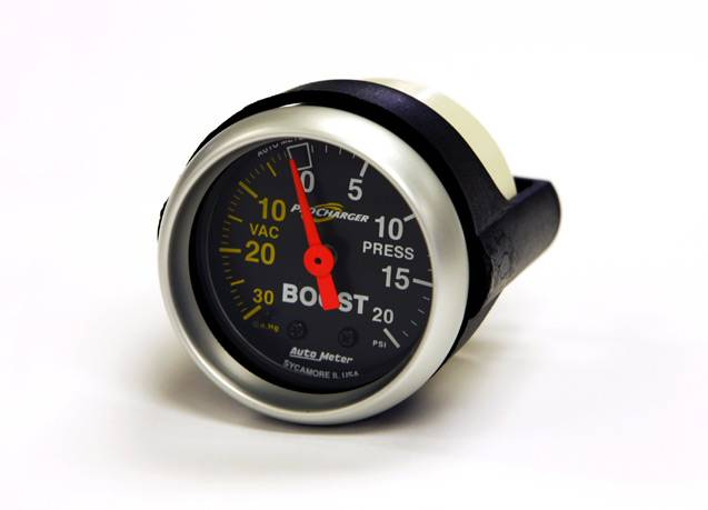 "ATI/Procharger - Procharger Mechanical 20 PSI Boost Gauge - 2-1/16"" Black Face - Image 1"