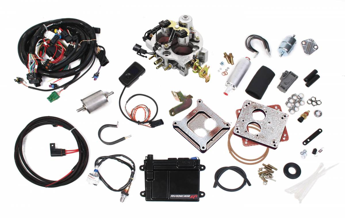 Holley Avenger Efi 2bbl Throttle Body Fuel Injection System V8 550 Wiring Harness