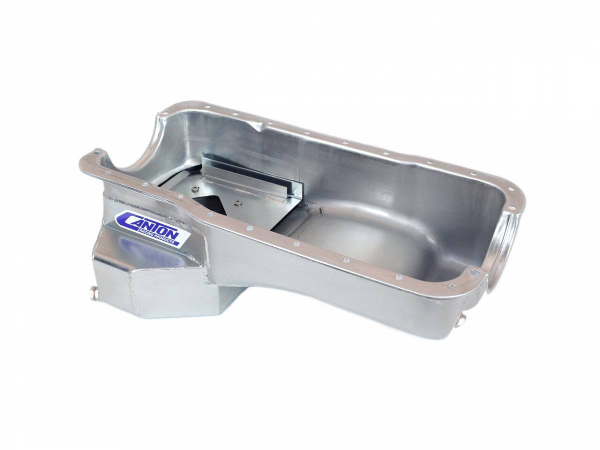 Ford Mustang 289/302 7 Quart T-Style Rear Sump Oil Pan Zinc Plated
