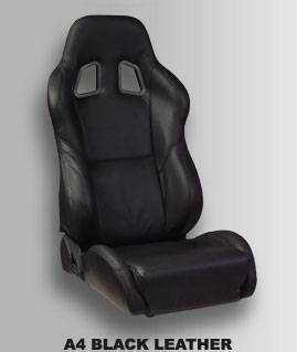 A4 Black Leather
