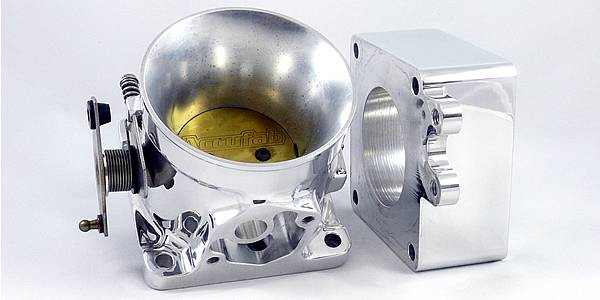 Accufab Racing - Accufab 65mm 86-93 Mustang 5.0L Race Throttle Body w/ Blank Spacer - Image 1
