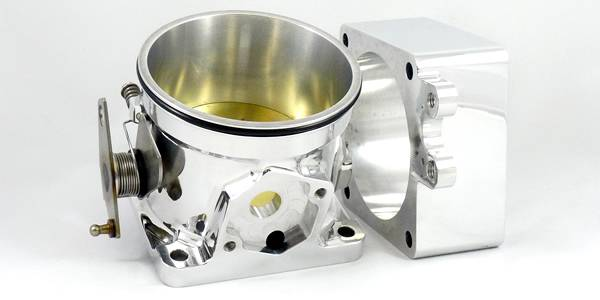 Accufab Racing - Accufab 90mm 86-93 Mustang 5.0L Clamshell Clamp Throttle Body w/ Blank Spacer - Image 1