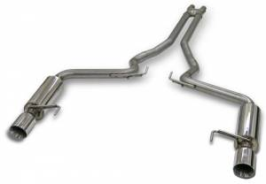 "Bassani Exhaust FORD - Mustang 2011-2015 - Bassani - Ford Mustang GT 2015 Bassani 3"" X-Cross Over and Race Muffler Cat-back System to Bassani Long Tube Headers"