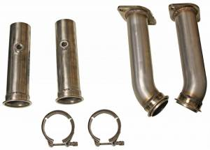"Bassani Exhaust FORD - Mustang 2011-2015 - Bassani - Ford Mustang GT 2011-2014 Bassani 3"" Off-Road Adapters for Bassani Long Tube Headers"