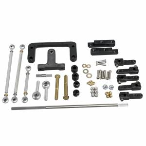 Air Induction - Trick Flow Specialties Intake Manifolds - Trickflow - Trick Flow A460 Dual Carburetor Linkage Kit for A460 Heads 385 series