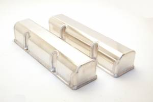 Valve Covers - Canton Racing Products - Canton Chevy SBC Laser Cut Rail Aluminum Valve Covers