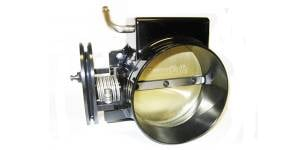 Accufab Racing - Accufab 105mm Camaro Firebird LS1 FAST Black Throttle Body Clamshell