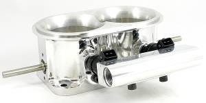 """Accufab Racing - Accufab 2-Barrel Dual 3.50"""" Blade Mountain Motor Throttle Body w/ Fuel Rail"""