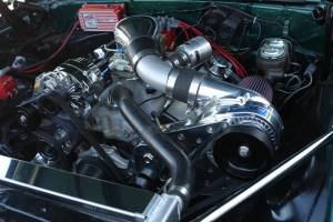 ATI / Procharger Superchargers - Chevy SBC & BBC Procharger Kits - ATI/Procharger - Chevy SBC & BBC Procharger Serpentine HO Intercooled Kit with P-1SC for Aftermarket EFI/Carb