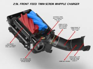Ford Mustang GT 5.0L 2015-2017 Whipple Supercharger Stage 2 Intercooled Kit W175FF 2.9L