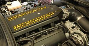 ATI / Procharger Superchargers - Chevy Camaro / Firebird 2010-2017 Prochargers - ATI/Procharger - Chevy Camaro / Corvette LT1 LT4 Black Sheet Metal CNC Billet Aluminum Procharger Intake Manifold