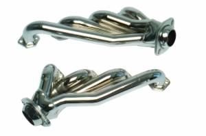 "Ford Mustang 1979-1995 V8 - Mustang 79-93 351 w/5.8 Short Tube Exhaust - MAC Performance - Ford Mustang 1979-1993 5.8L MAC 1 5/8"" Chrome Short Tube 351W Swap Headers"