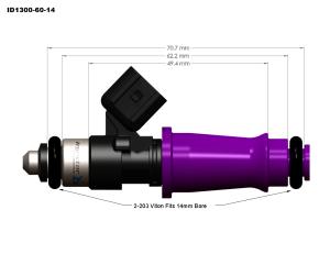 Injector Dynamics - Injector Dynamics ID1300 Fuel Injectors Ford Focus ZX3 SVT RS 2.0L - Image 2