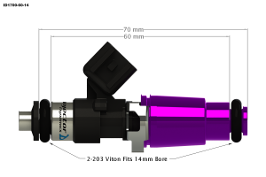 Injector Dynamics - Injector Dynamics ID1700 Fuel Injectors Ford Focus ZX3 SVT RS 2.0L - Image 2