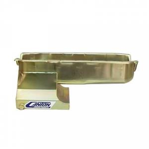 Canton Drag Race Oil Pans - Canton Chevy Drag Race Pans - Canton Racing Products - Canton Drag Race Chevy SBC pre-85 Blocks w/ Left Side Dipstick Oil Pan