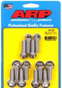 Cylinder Heads - ARP Fasteners - Automotive Racing Products - ARP Intake Manifold Bolt Kit Chevrolet Small Block SS Hex 12pt