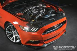 Ford Mustang GT 5.0L 2015-2017 Vortech Supercharger - Polished V-3 Si Tuner Kit