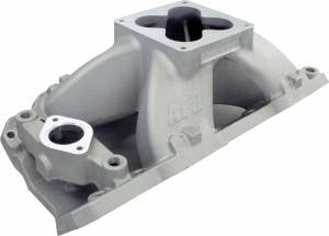 "Air Induction - Air Flow Research - AFR BBC 18° Magnum Series Aluminum Intake Manifold for 9.8"" Deck Height"