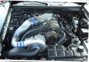 Vortech Superchargers - Ford Mustang 1999-2010 - Vortech Superchargers - Ford Mustang Bullitt 4.6 2V 2001 Vortech Supercharger - V-2 Si Tuner  Kit
