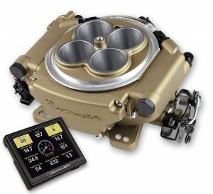 Holley EFI Injection Kits - Holley Sniper EFI Throttle Bodies - Holley - Holley Super Sniper EFI 4150 Self-Tuning Fuel Injection Kit 650 HP - Classic Gold