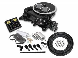 Holley EFI Injection Kits - Holley Sniper EFI Throttle Bodies - Holley - Holley Sniper EFI 2300 Self-Tuning Fuel Injection Master Kit - Black Ceramic