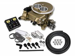 Holley EFI Injection Kits - Holley Sniper EFI Throttle Bodies - Holley - Holley Sniper EFI 2300 Self-Tuning Fuel Injection Master Kit - Classic Gold