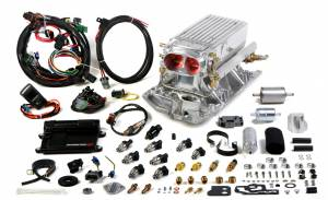 Holley EFI Injection Kits - Holley Avenger EFI Fuel Injection Systems - Holley - Holley Avenger EFI Stealth SBC Ram Fuel Injection System - Polished