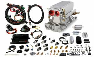 Holley EFI Injection Kits - Holley Avenger EFI Fuel Injection Systems - Holley - Holley Avenger EFI Stealth Ram Fuel Injection System For SBC 1995 and Earlier - Satin