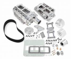 Weiand Superchargers - Chevy Big Block Weiands - Weiand Superchargers - Chevy Big Block Standard Deck Weiand - Polished 6-71 Street Supercharger Kit