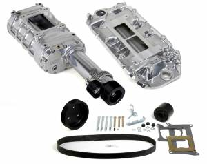 Weiand Superchargers - Chevy Big Block Standard Deck Low Profile Weiand - Polished 174 Pro-Street Supercharger Kit