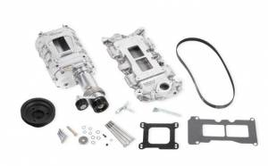 Weiand Superchargers - Chevy Big Block Standard Deck Rectangular Port Weiand - Polished 177 Street Supercharger Kit