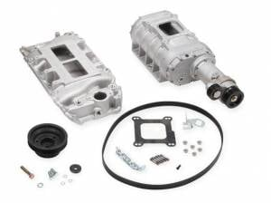 Weiand Superchargers - Chevy Big Block Weiands - Weiand Superchargers - Chevy Big Block Short Nose Standard Deck Oval Port Weiand - Satin 177 Street Supercharger Kit