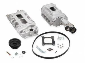 Weiand Superchargers - Chevy Big Block Short Nose Standard Deck Oval Port Weiand - Satin 177 Street Supercharger Kit