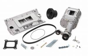 Weiand Superchargers - Chevy Small Block Vortec L31 Head Weiand - Satin 142 Universal Supercharger Kit