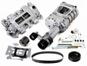 Weiand Superchargers - Chevy Small Block Low Profile Weiand - Polished 144 Universal Supercharger Kit
