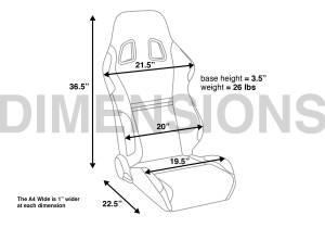 Corbeau - Corbeau A4 Reclining Seat (Pair) - Image 6