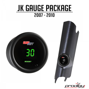 Prodigy Performance - Jeep Wrangler 2007-2011 JK 3.8L Single Gauge Pod Package Prodigy Performance