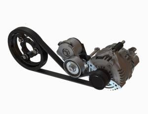 Whipple Superchargers - Whipple Belt Systems - Whipple Superchargers - Whipple Ford Mustang 2011-2020 Coyote Alternator Relocation Kit